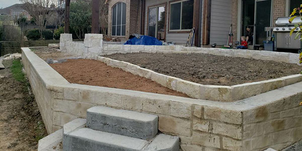 stone retaining wall contractors rockwall tx dfw home commercial business best companies near me fortress foundation systems