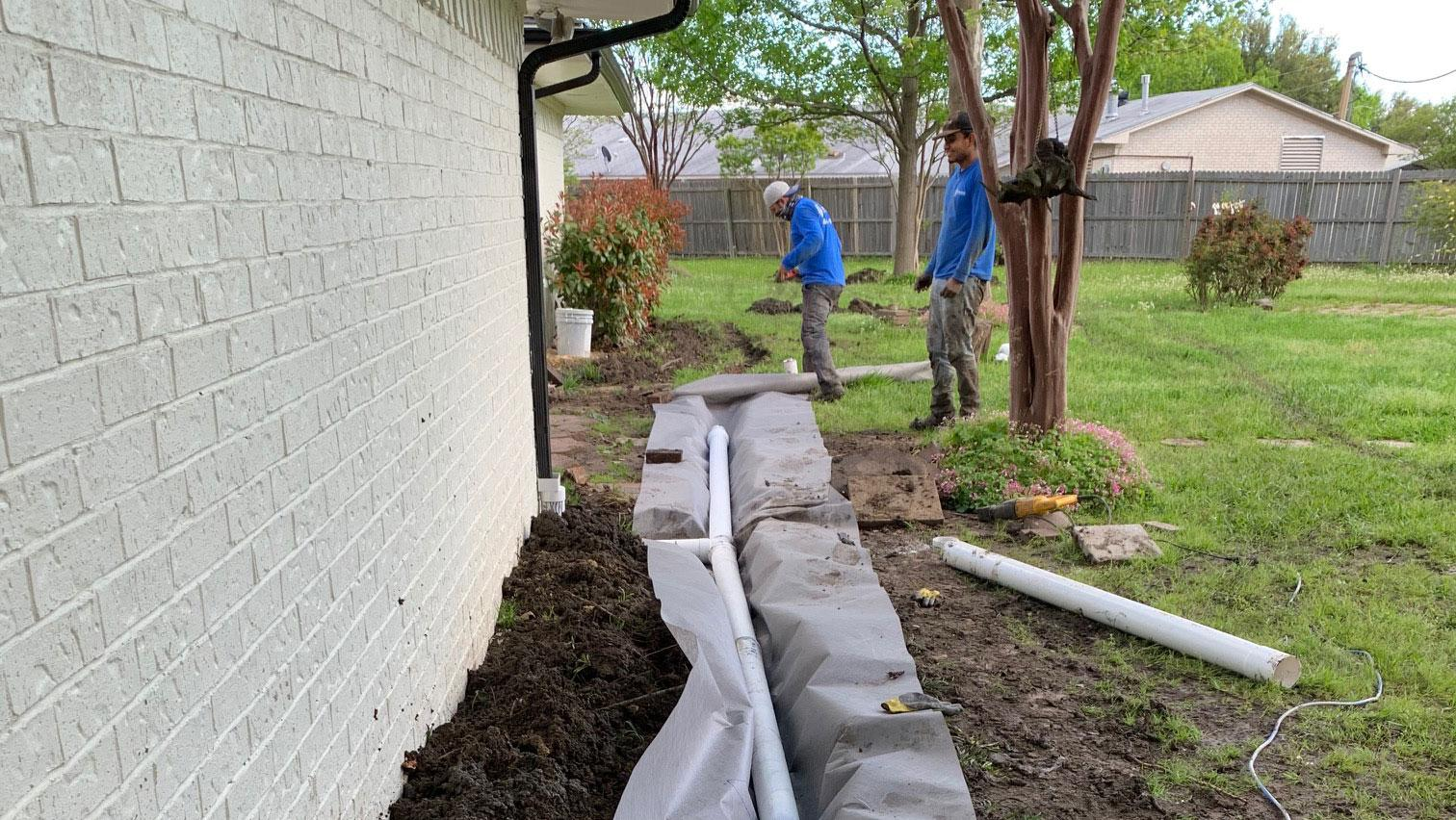 drainage contractors rockwall tx dfw drainage correction system best companies near me services fortress foundation repair systems